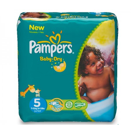 PAMPERS JUNIOR 32 COUCHES