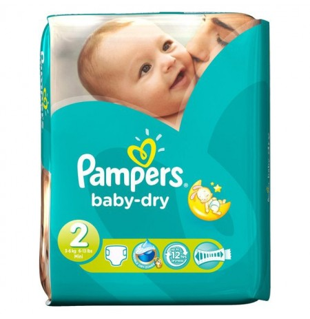 PAMPERS MINI 40COUCHES